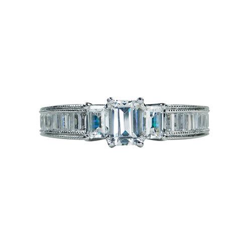 Modern Bride® Signature 1 1/2 CT. T.W. Diamond 14K White Gold Engagement Ring