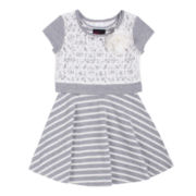 Little Lass® Popover Dress - Toddler Girls 2t-4t