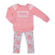 Little Lass® 2-pc. Coral Awesome Set - Preschool Girls 4-6x