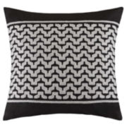 INK+IVY Cheyenne Square Embroidered Decorative Pillow