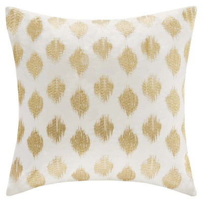 Jcpenney Gold Decorative Pillows : INK+IVY Nadia Dot Square Embroidered Decorative Pillow - JCPenney