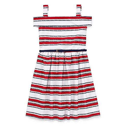 Knit Works Sleeveless Stripe A-Line Dress - Big Kid Girls