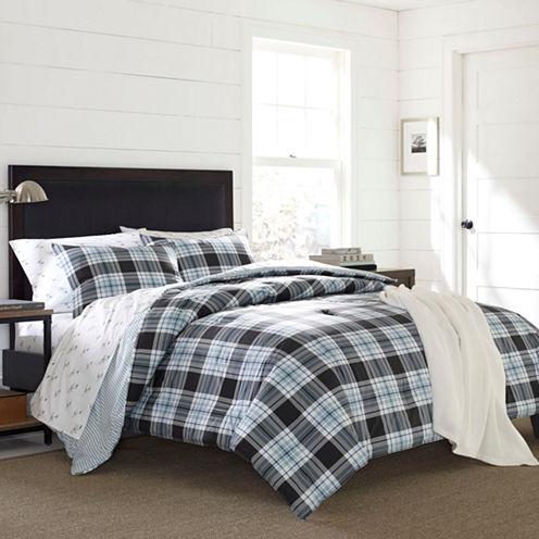 Eddie Bauer Lewis Plaid Comforter- Sham Set