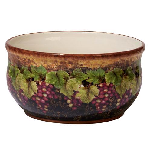 Certified International Gilded Wine Fruit Bowl
