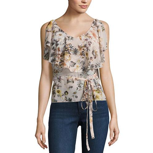 Buffalo Jeans Floral Ruffle Tank Top