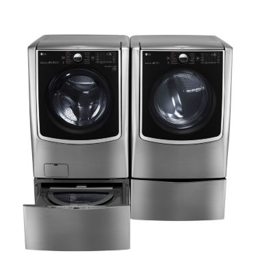 jcpenney.com | LG ENERGY STAR® 5.2 cu. ft. High-Efficiency Mega Capacity Turbowash Washer With On-Door Control Panel