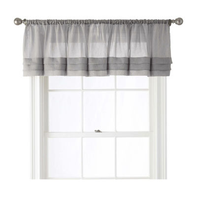 Home Expressions Crushed Voile Rod Pocket Tailored Valance Jcpenney