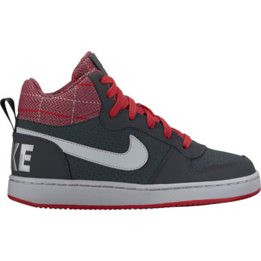 jcpenney.com | Nike® Court Borough Mid Boys Basketball Shoes - Big Kids