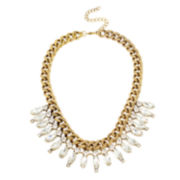 Bleu™ Stone Gold-Tone Collar Necklace