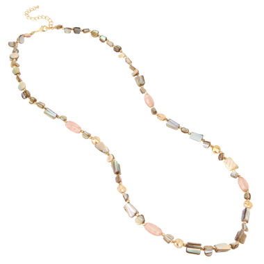 jcpenney.com | Bleu™ Mixed Bead Gold-Tone Long Necklace