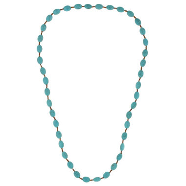 jcpenney.com | Decree® Blue Bead Silver-Tone Strand Necklace