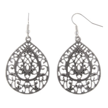 jcpenney.com | Decree® Silver-Tone Teardrop Earrings