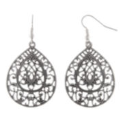 Decree® Silver-Tone Teardrop Earrings