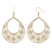 Decree® Gold-Tone Filigree Drop Earrings