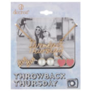 Decree® Throwback Thursday Necklace & Earring Set