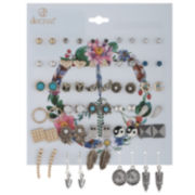 Decree® 30-pr. Two-Tone Motif Earring Set