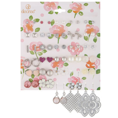 jcpenney.com | Decree® 30-pr. Silver-Tone Girly Earring Set