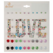 Decree® 30-pr. Cube Earring Set