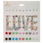 Decree® 30-pr. Cube Earring Set
