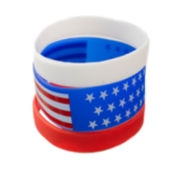 Mixit™ 3-pk. Red, White and Blue Flag Rubber Bracelets