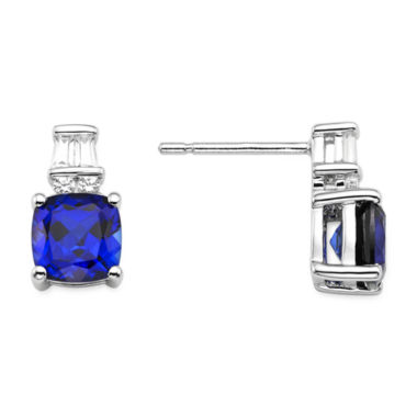 jcpenney.com | Lab Created Blue And White Sapphire Sterling Silver Earring