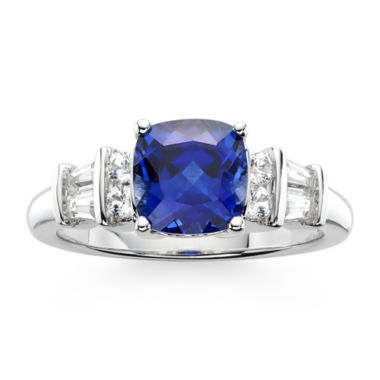 jcpenney.com | Lab Created Blue And White Sterling Silver Sapphire Ring