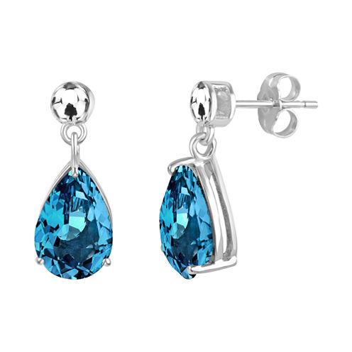 Genuine Blue Topaz Sterling Silver Earrings
