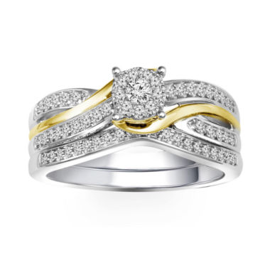 jcpenney.com | 3/8 CT. T.W. Diamond 10K Two-Tone Engagement Ring