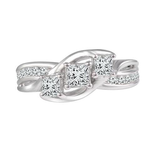 Love Lives Forever™ 1 CT. T.W. Diamond 10K White Gold Engagement Ring