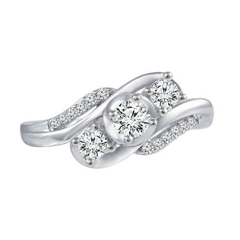 Love Lives Forever™ 1/2 CT. T.W. Diamond 10K White Gold Engagement Ring