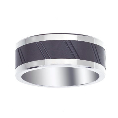 jcpenney.com | Mens 9mm Cobalt & Ceramic Wedding Band