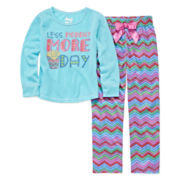 Sleep On It Less Monday More Fridays 2-pc. Sleep Pants Set - Preschool Girls 4-6x