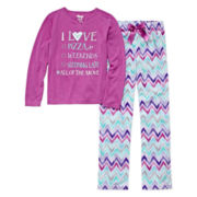 Sleep On It I Love List 2-pc. Sleep Pants Set - Preschool Girls 4-6x