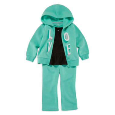 jcpenney.com | Okie Dokie® Graphic Hoodie, Solid Tunic or Fleece Pants - Baby Girls newborn-24m
