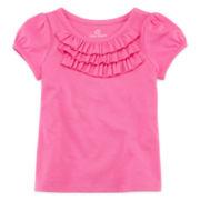 Okie Dokie® Short-Sleeve Ruffle Tee - Baby Girls newborn-24m