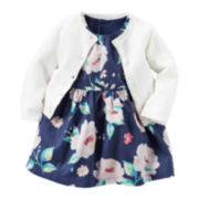 Carter's® 2-pc. Dress & Cardigan Set - Baby Girls newborn-24m