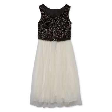 jcpenney.com | Emerald Gumdrops Sleeveless Ballerina Sequin Popover Dress - Girls 7-16