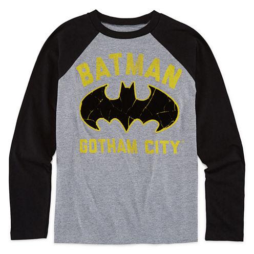 Batman Long-Sleeve Raglan Tee - Boys 8-20
