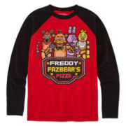 Freddy Fazbear's Pizza Long-Sleeve Raglan Tee - Boys 8-20