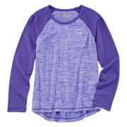 Champion® Long-Sleeve Space-Dye Raglan Tee - Girls 7-16