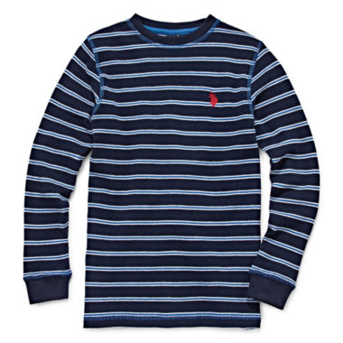 jcpenney.com | U.S. Polo Assn.® Long-Sleeve Thermal Cotton Top - Boys 8-20