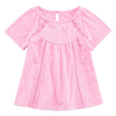 jcpenney.com | Arizona Short-Sleeve Lace Inset Top - Baby Girls 3m-24m