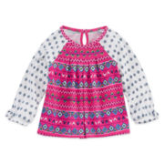Arizona Long-Sleeve Lace Top - Baby Girls 3m-24m