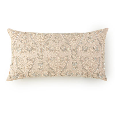 Alexandria Oblong Beaded Decorative Pillow