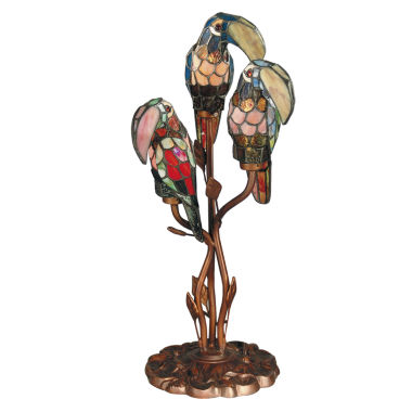 jcpenney.com | Dale Tiffany™ Three Parrots Accent Lamp