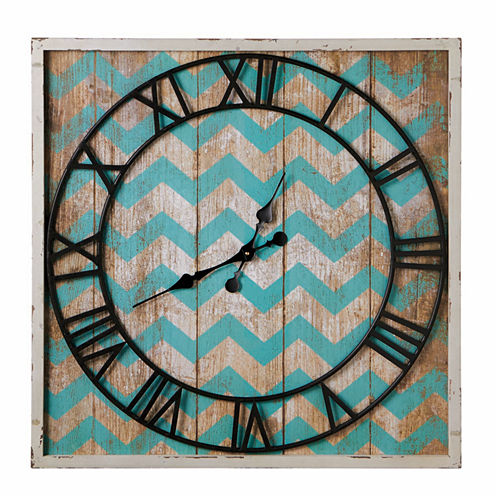 Square Chevron Wall Clock