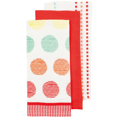 jcpenney.com | Ladelle® Aria Coral Set of 3 Kitchen Towels