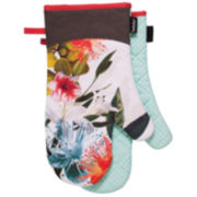 Ladelle® Botanica Printed Set of 2 Oven Mitts