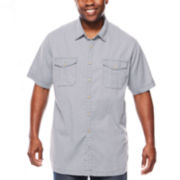 The Foundry Supply Co.™ Crosshatch Short-Sleeve Woven Shirt - Big & Tall