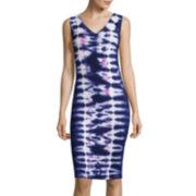 BELLE + SKY™ Sleeveless Tie-Dye Dress